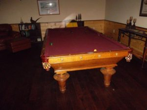 Pool table needed felt top professionally cleaned